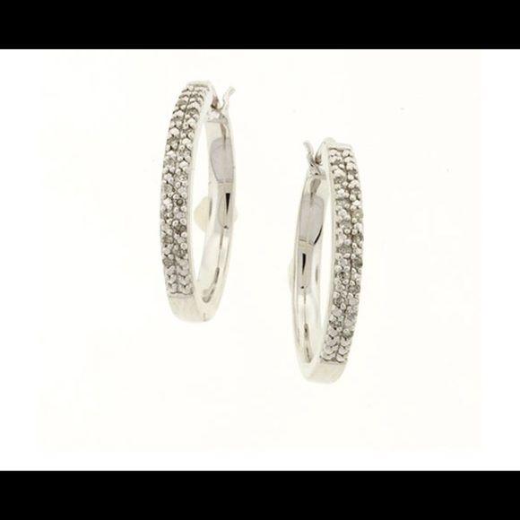 Jewelry 1/8 ctw. Diamond Hoop Earrings Jewelry Earrings
