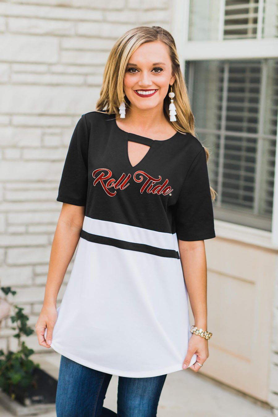 Alabama crimson tide top notch jersey trendy clothes