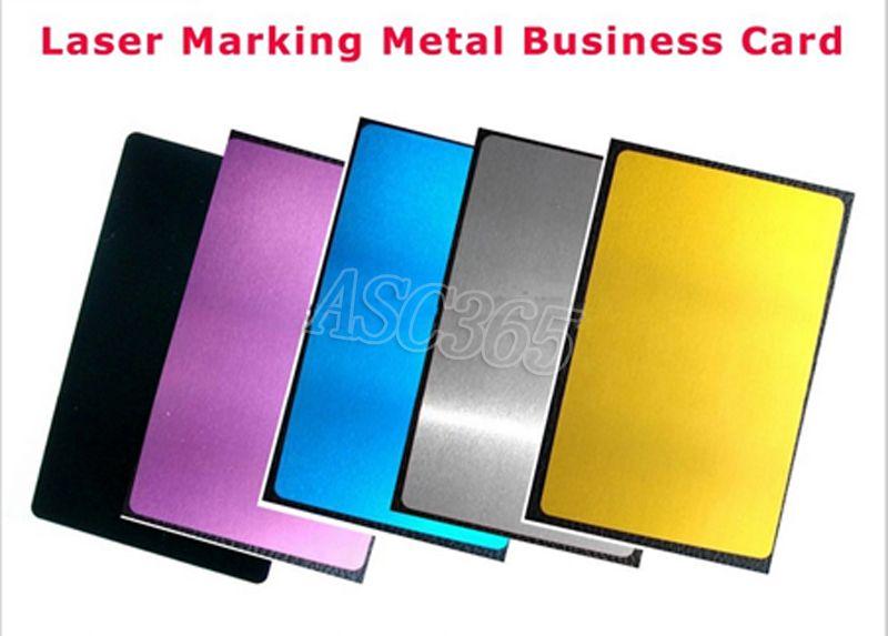 Freies verschiffen 100 stücke Blank sublimation metall visitenkarte ...