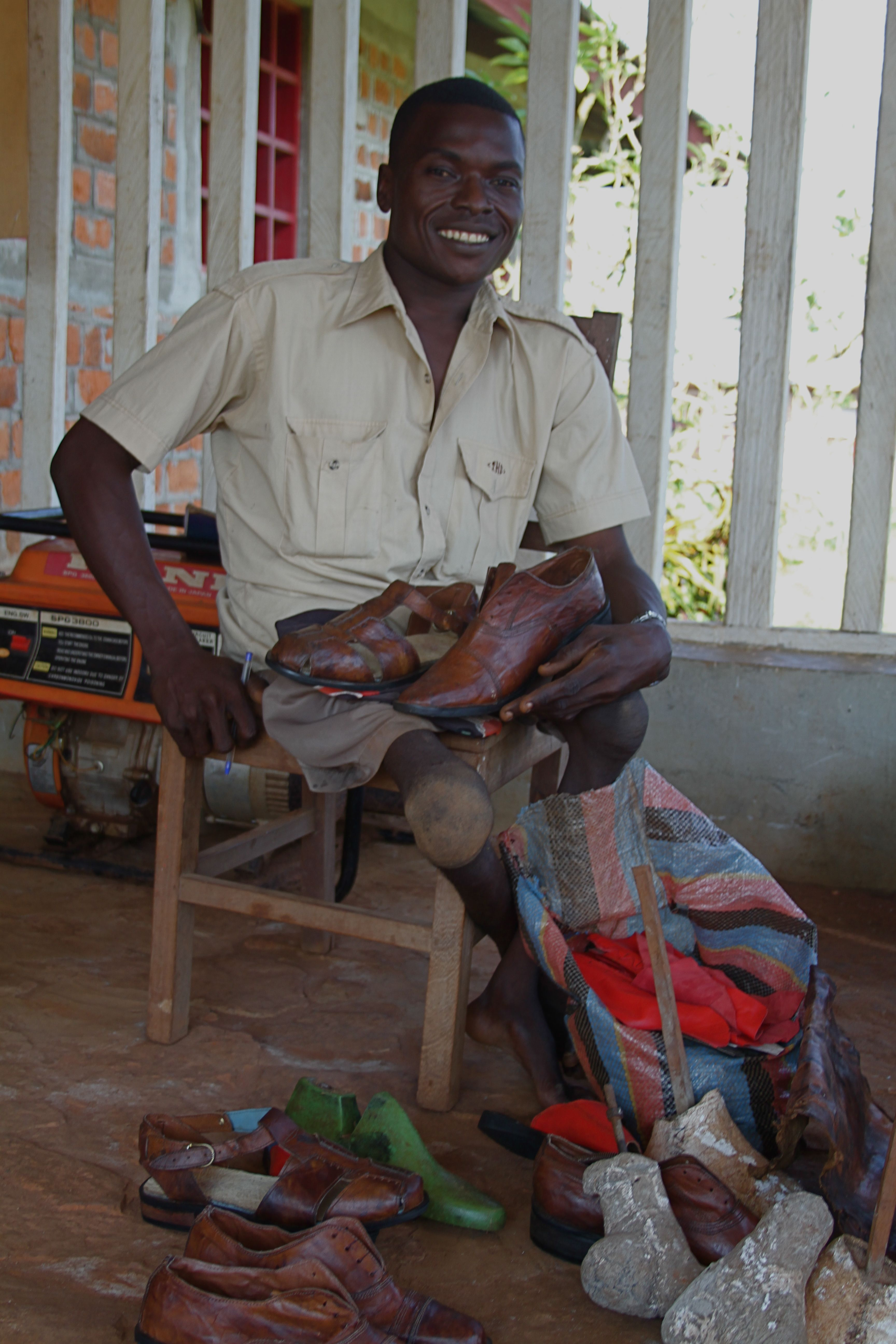 Balia, the shoemaker in Congo, Africa by Naomi Norris
