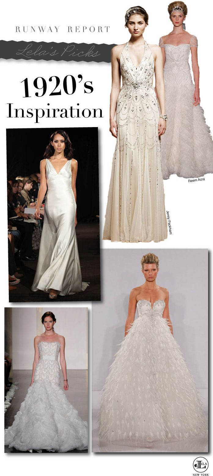 62d6edba713b Far top right = AMAZING. Bottom right is absolutely beautiful too. <3 NY  Bridal Market 2012 Runway Report by Lela New York featuring 1920 inspired  wedding ...