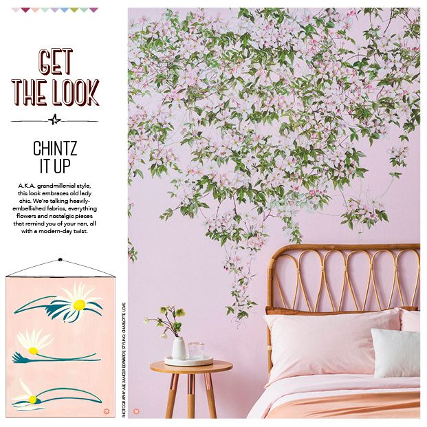 Sian Zeng Wallpaper in Mollie Makes Magazine Talking old lady chic in our latest @molliemakes feature 🌸 Thank you @emma_g_pictures for including Clematis in this lovely 'Get The Look' alongside this gorgeous print created by talented illustrator @chiaracelini_art.⁠ ⁠ Wallpaper: Clematis Mural in Pink.⁠ .⁠ .⁠ .⁠ #molliemakes #molliemakesmagazine #getthelook #magazinefeature #interiormagazine #interiorstyled #chichome #prettyinpink