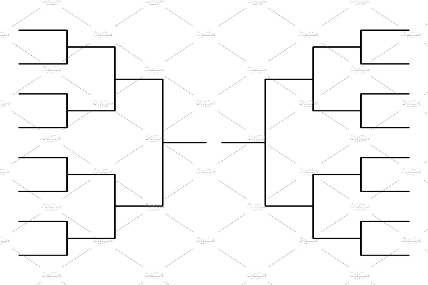 Tournament Bracket Template Templates Tournaments March Madness Bracket