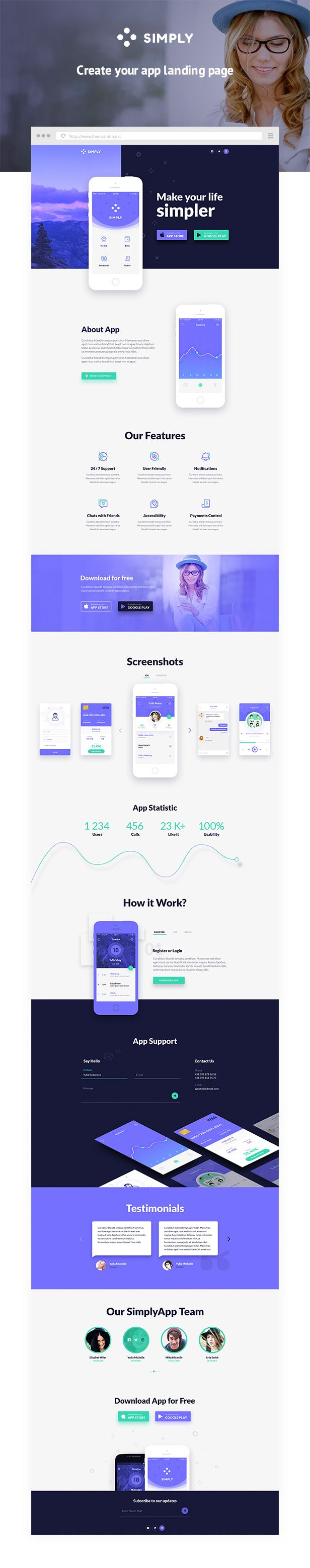 Simply App Landing Html Template Download Theme Https