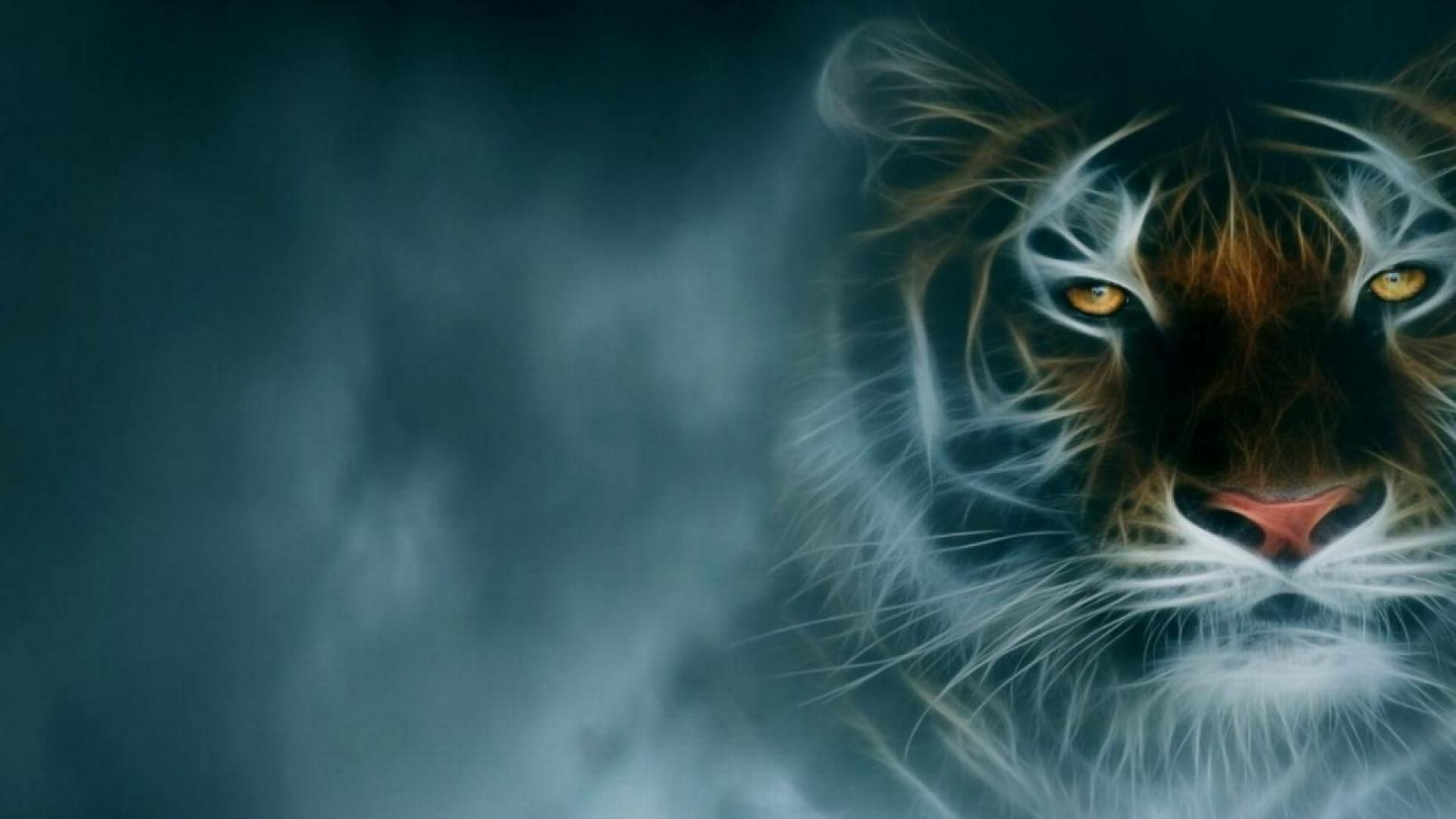 fractal tiger hd desktop background wallpaper free amazing fractal