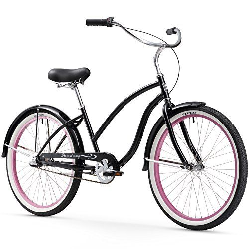 Firmstrong Chief Lady Three Speed Beach Cruiser Bicycle, 26-Inch, Blac