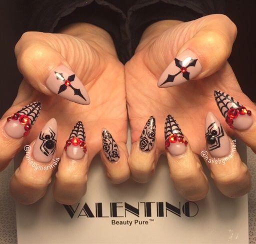 awesome nails | Halloween acrylic nails, Holiday nail art ...
