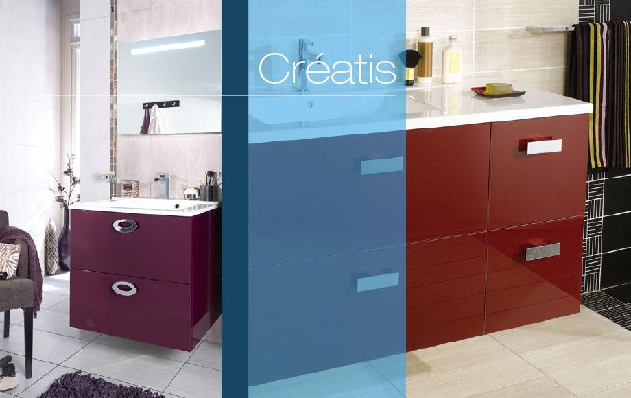 1f07d6ec5f54d2 Modèle Créatis Lapeyre | Salle de bain | Meuble salle de bain, Salle ...