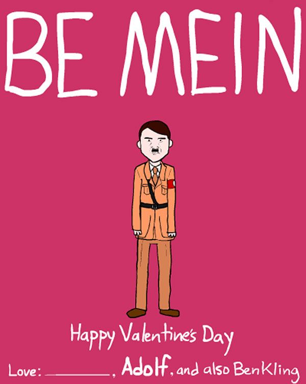 Dictator and Famous People Valentine Day Cards by Ben Kling – Funny Happy Valentines Day Cards