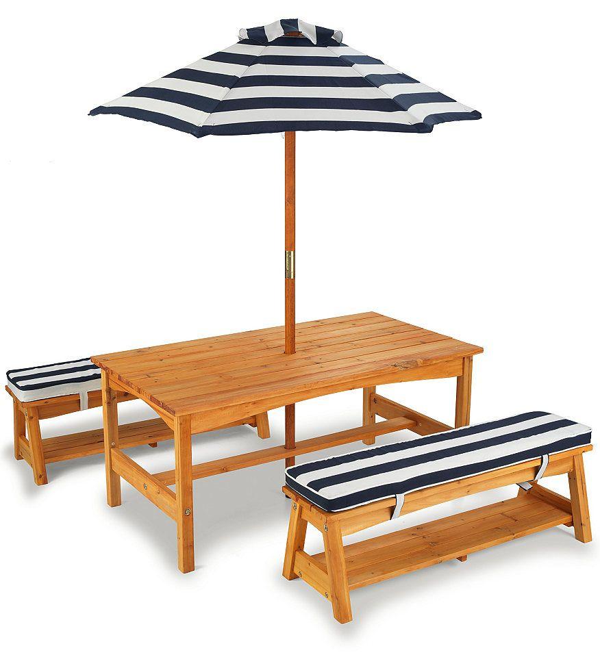 KidKraft® Kinder Gartenmöbel-Set (6tlg.) für 259,99€. Gartentisch ...