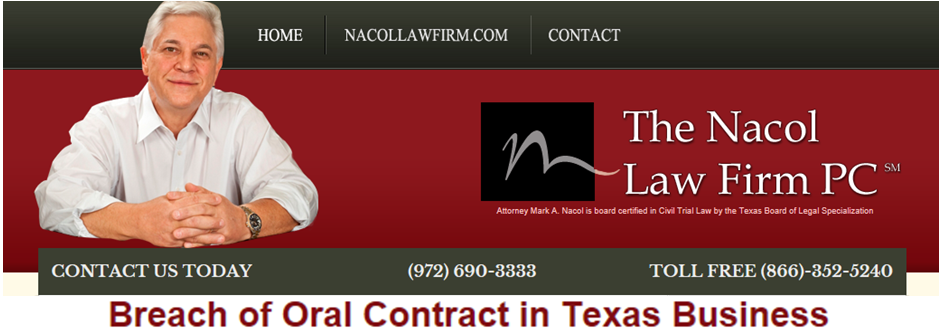 Breach Of Oral Contract In Texas Business HttpWww