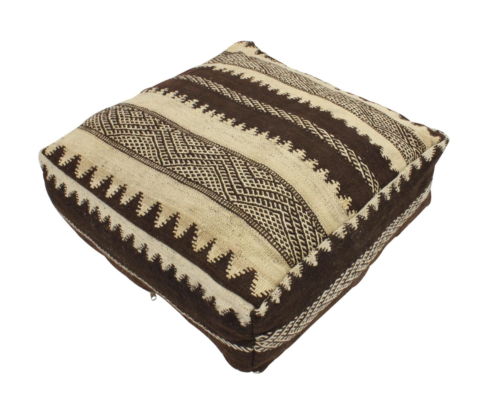 Moroccan Kilim Pouf Pouffe Wool Rug Fabric Xl Floor Cushion Pillow