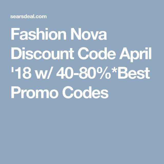 fashion nova discount code may 2020
