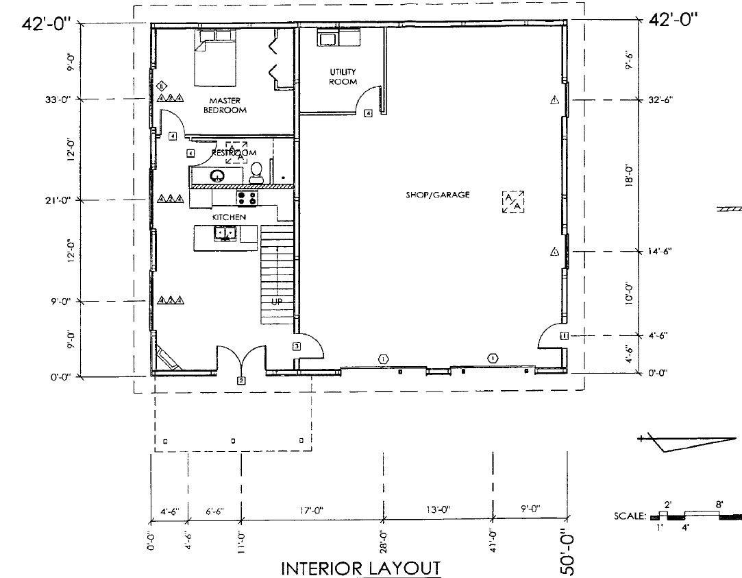 pole barn with living quarters plans sds plans complete descriptions of each of the [ 1083 x 843 Pixel ]