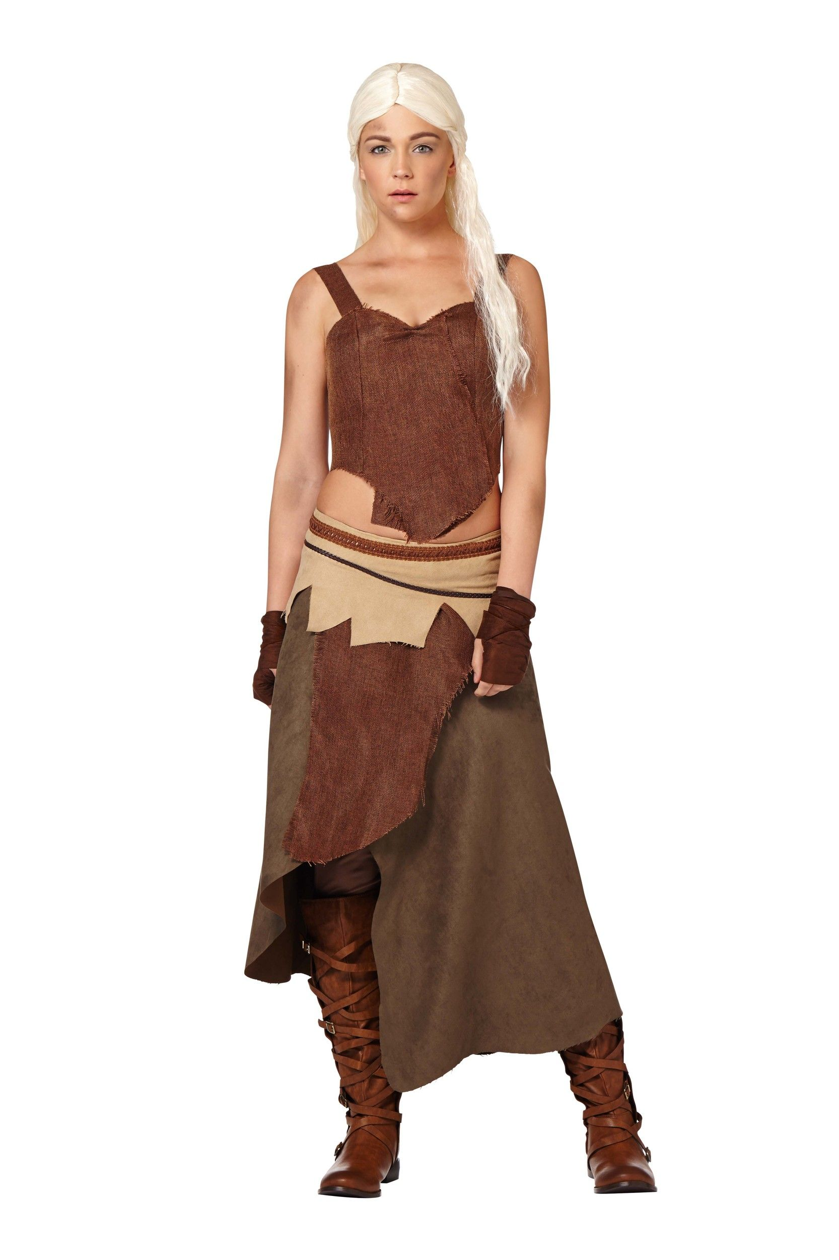 'Game of Thrones' costumes Daenerys Targaryen Dothraki Image Credit: Spirit Halloween  via @AOL_Lifestyle Read more: http://www.aol.com/article/2014/12/19/an-easy-and-delicious-recipe-for-homemade-eggnog-chai-lattes/21119191/?a_dgi=aolshare_pinterest#fullscreen