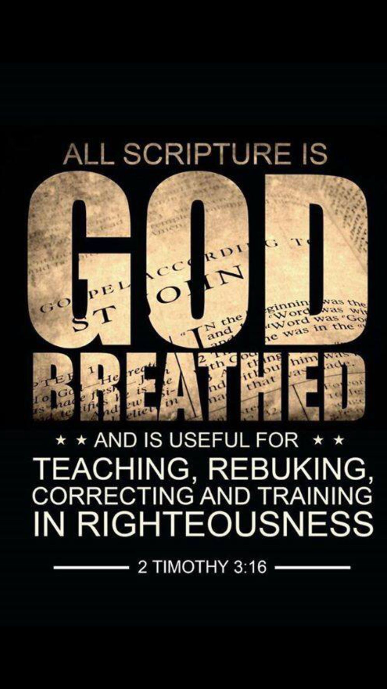 All Scripture is God's breathed and inspired by the Holy