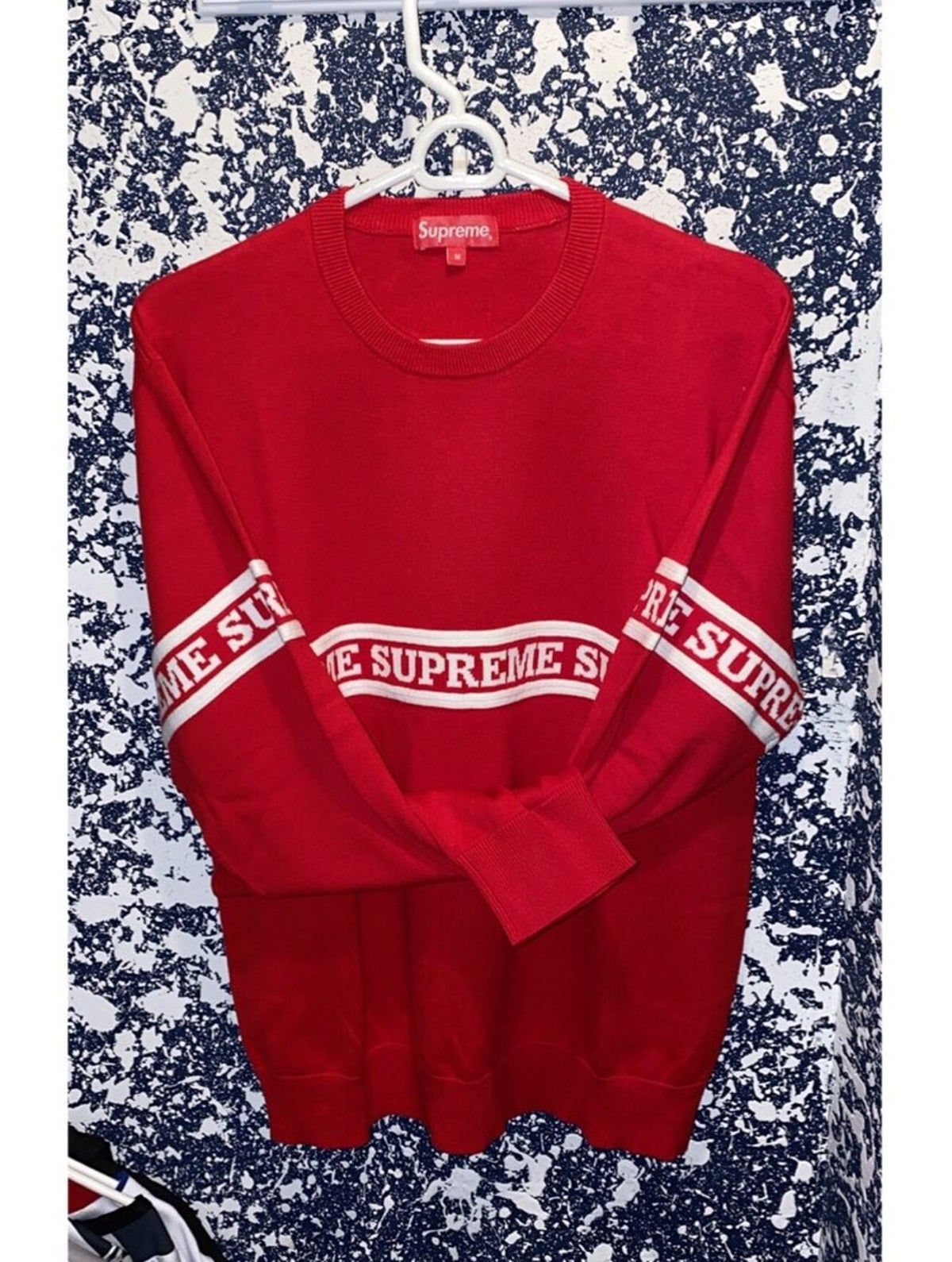 Supreme Knit Sweater Long Sleeve Tshirt Men Mens Street Style Mens Sweatshirts [ 1590 x 1200 Pixel ]