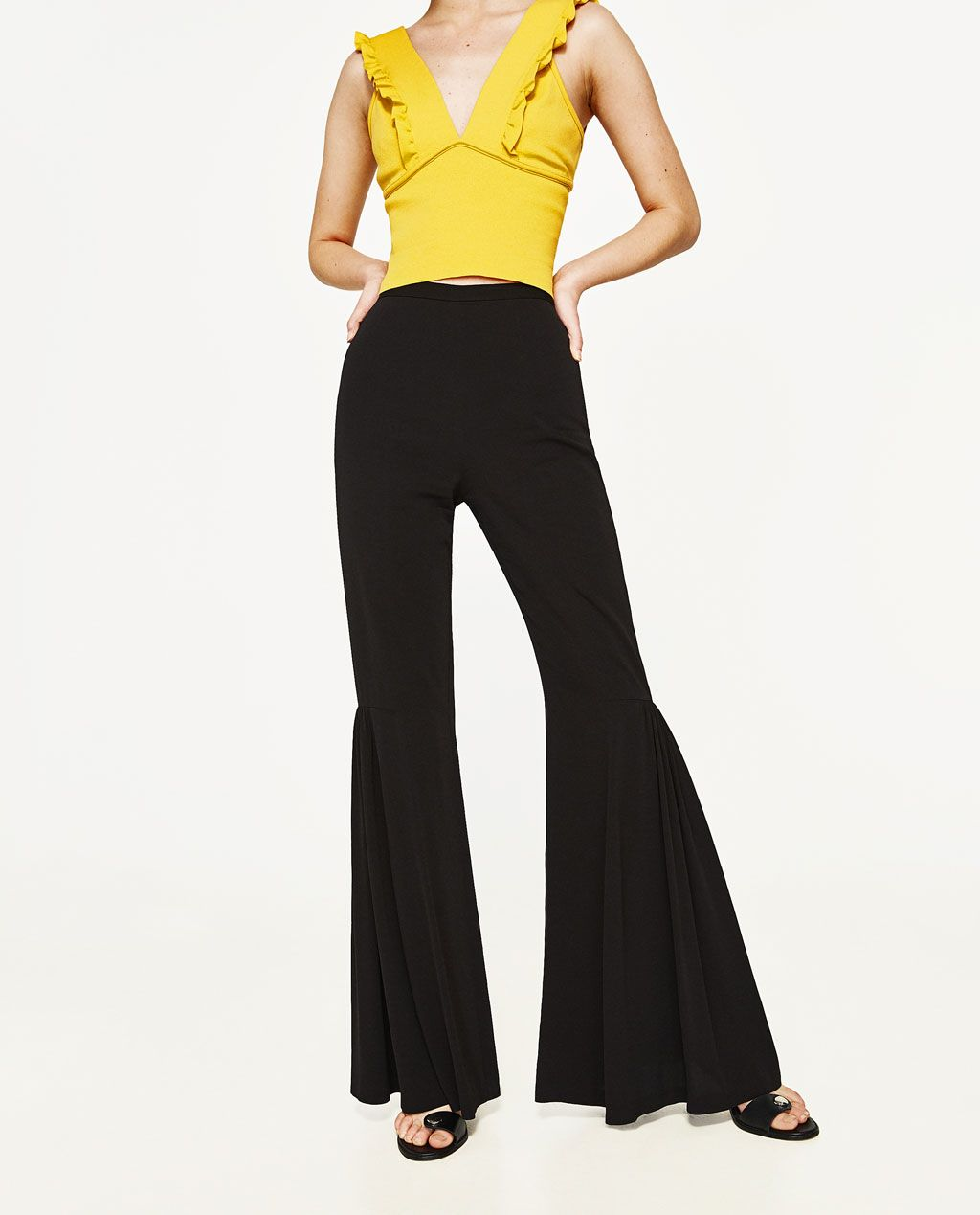 Image 2 of FLARED FLOWING TROUSERS from Zara  02de2d439852