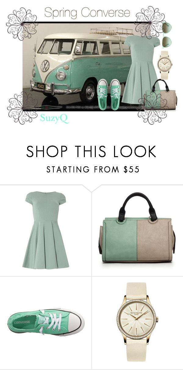 """""""Spring Converse"""" by suzettestokes ❤ liked on Polyvore featuring Vans, Closet, Danielle Nicole, Converse, Patek Philippe and The Row"""