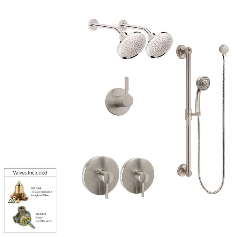 Mirabelle Miredcs2ad2sh Luxury Shower System Includes 2 Shower