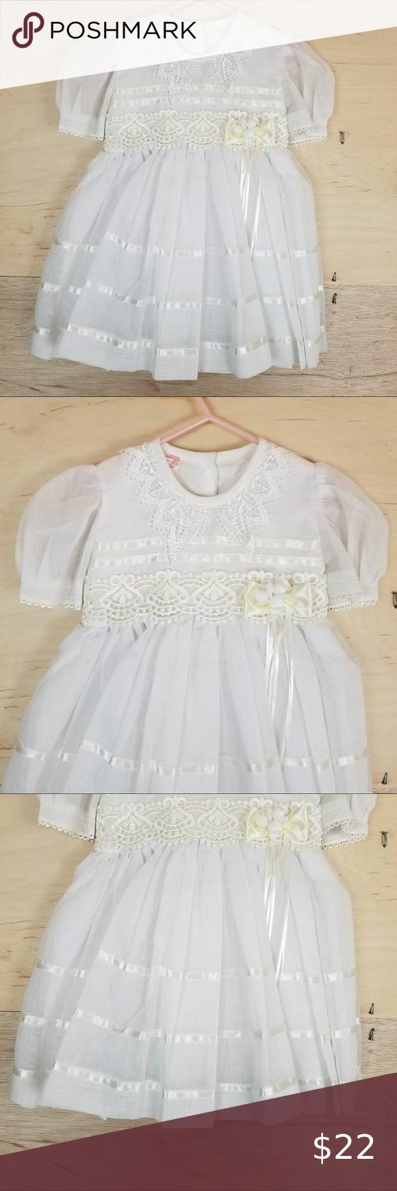 Vintage Enny Kids Sheer White Lace Dress Lace White Dress Lace Dress Lace Dress Vintage [ 1740 x 580 Pixel ]