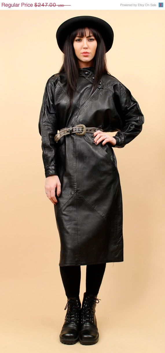 24 HR SALE 80s Vtg LEATHER Futuristic New Wave Goth par nanometer, $197.60
