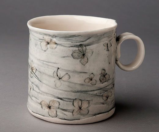 Rose Dickinson - Coffee Cup with Hydrangea design