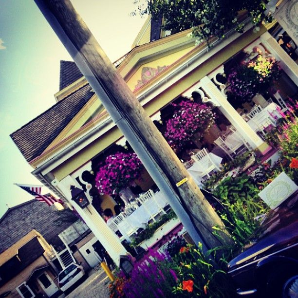 Nice restaurant in LBI  #brightcolors #prettyflowers #yellow #purpleflowers #LBI - iheartlbi.com/...