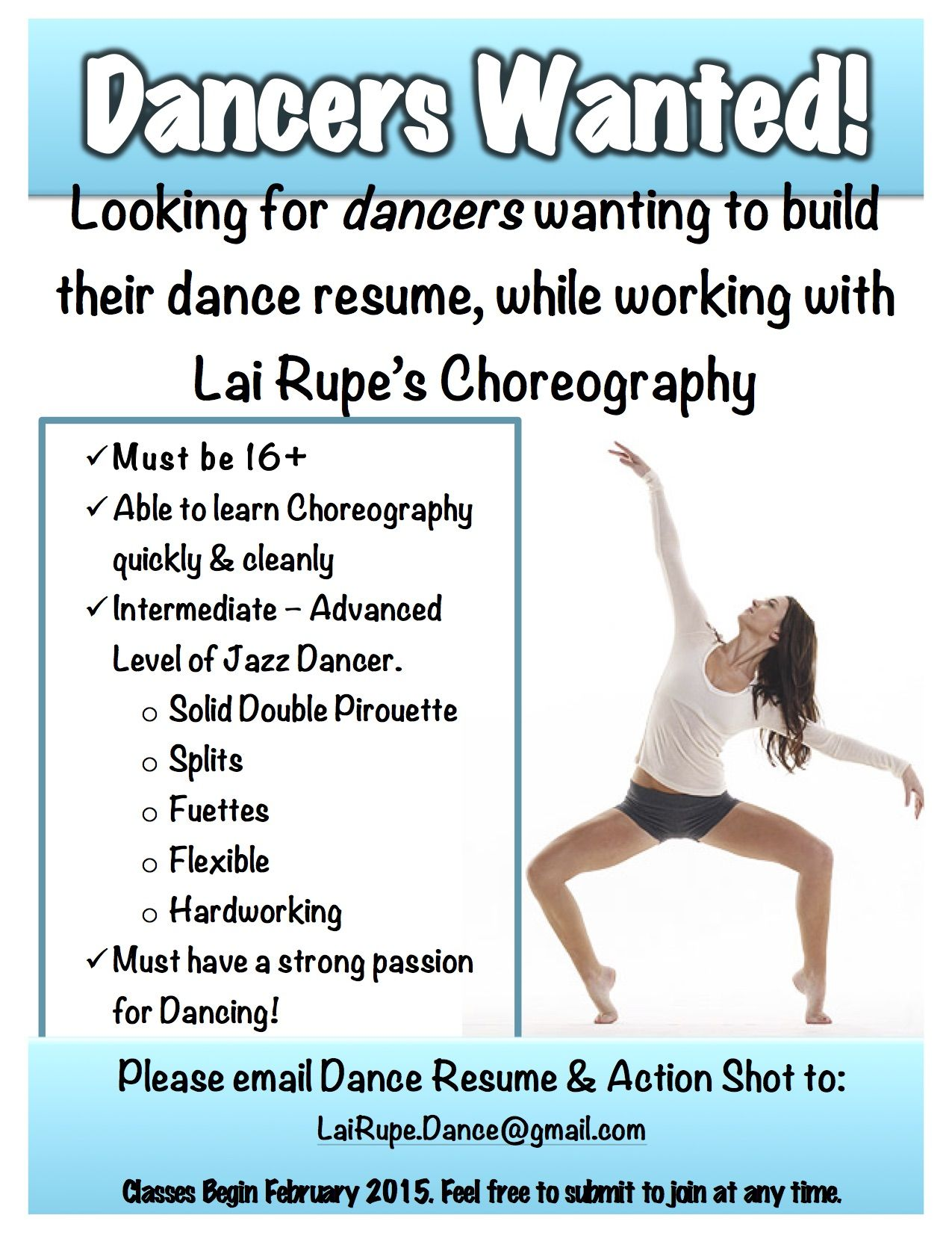 Job Opportunity for Jazz Dancers! If you live in UTAH, you