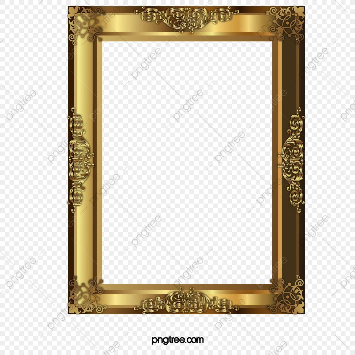 Gold Pattern Frame Frame Clipart Gold Frame Frame Pattern Png Transparent Clipart Image And Psd File For Free Download In 2021 Frame Clipart Gold Pattern Frame Border Design