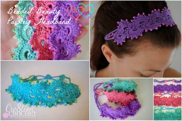 Queen Annes Lace Headband Free Crochet Crochet And Beads