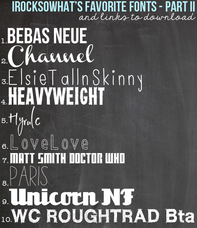 IROCKSOWHAT: Free Fonts (including a free Doctor Who font!)