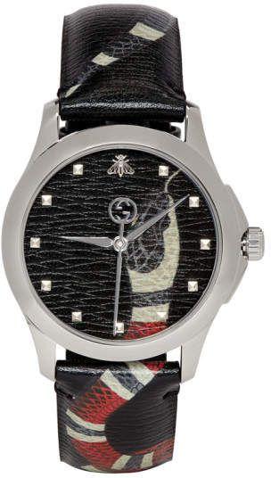 a05c4b52218 Gucci Black G-Timeless Le Marche Des Merveilles Watch