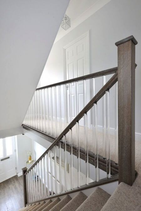 Pin On Stairways Lucite Balusters   Clear Handrails For Stairs   Steel   Clear Acrylic   Wood   Riser   Metal