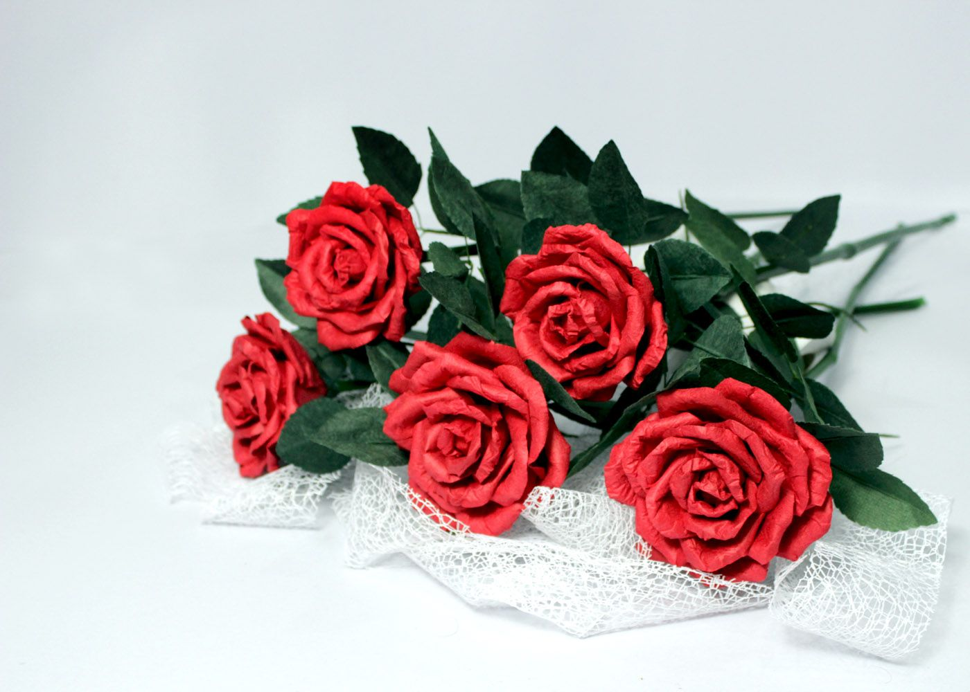 Beautiful Red Paper Roses Ive Just Made Them For Home Decor For