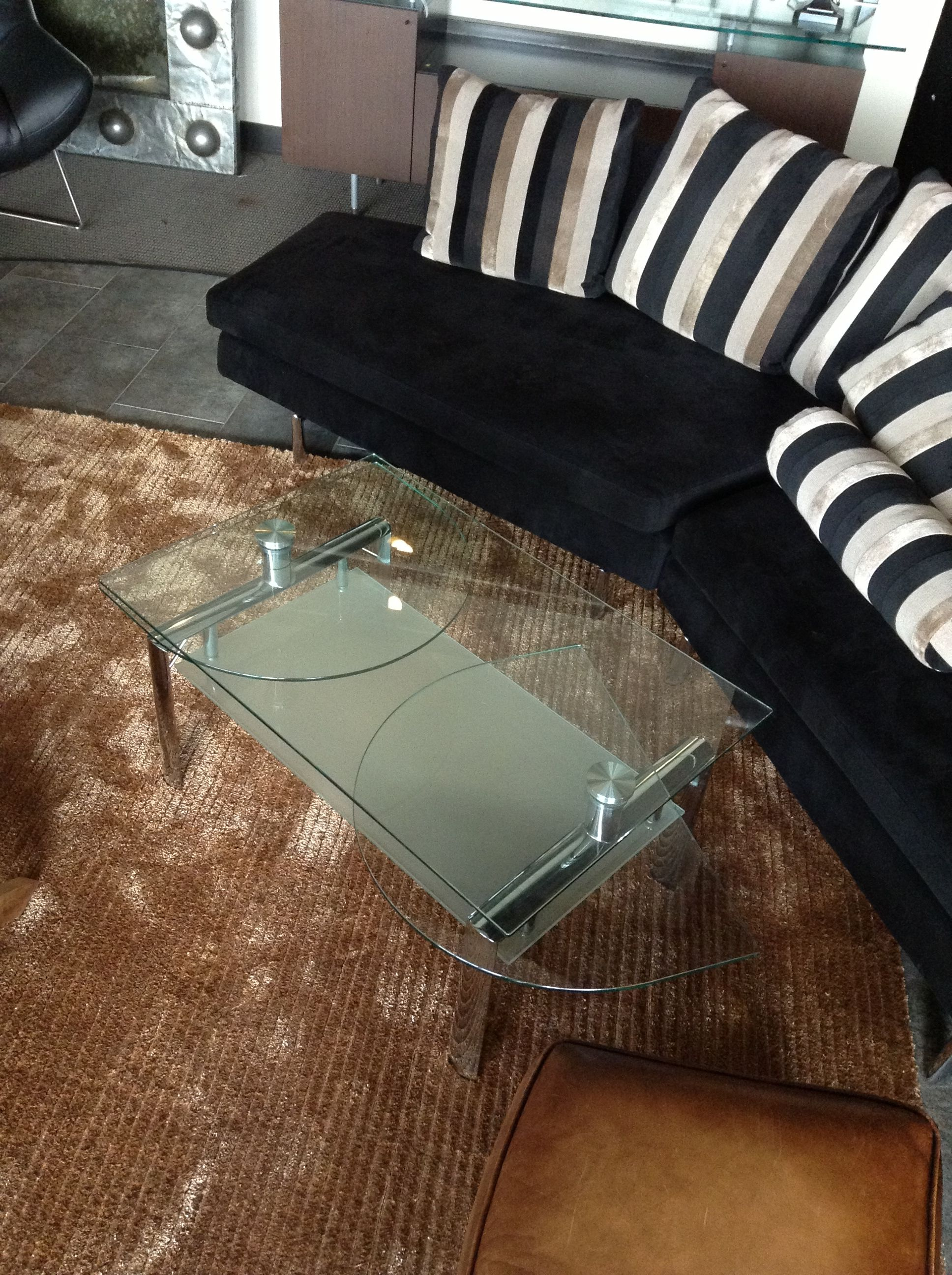 Modern Living Room Coffee Table With Swivel Half Moon Ends Found At
