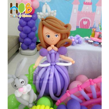 girl balloon sculpture - Google Search sofia the first birthday