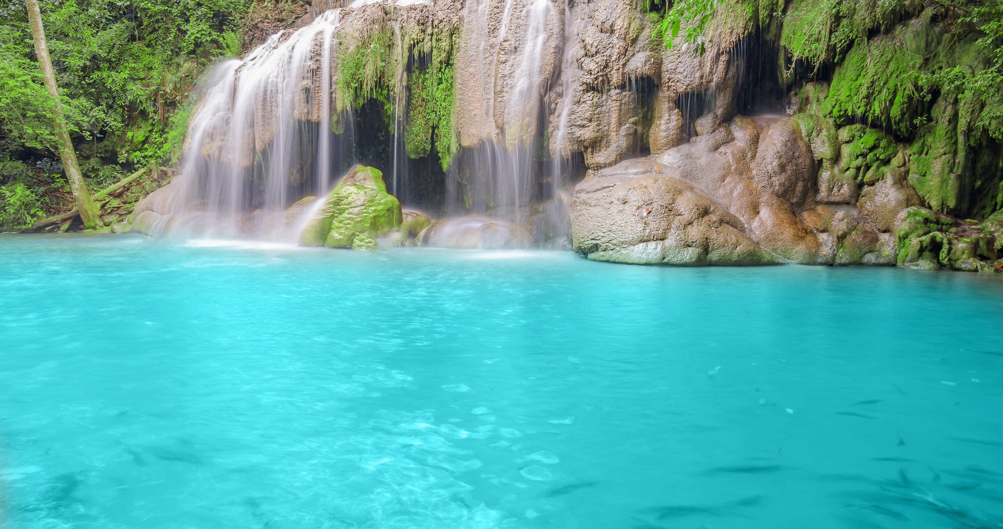 Blue Waterfall 4k Ultra Hd Wallpaper Waterfall Forest Waterfall Landscape Wallpaper