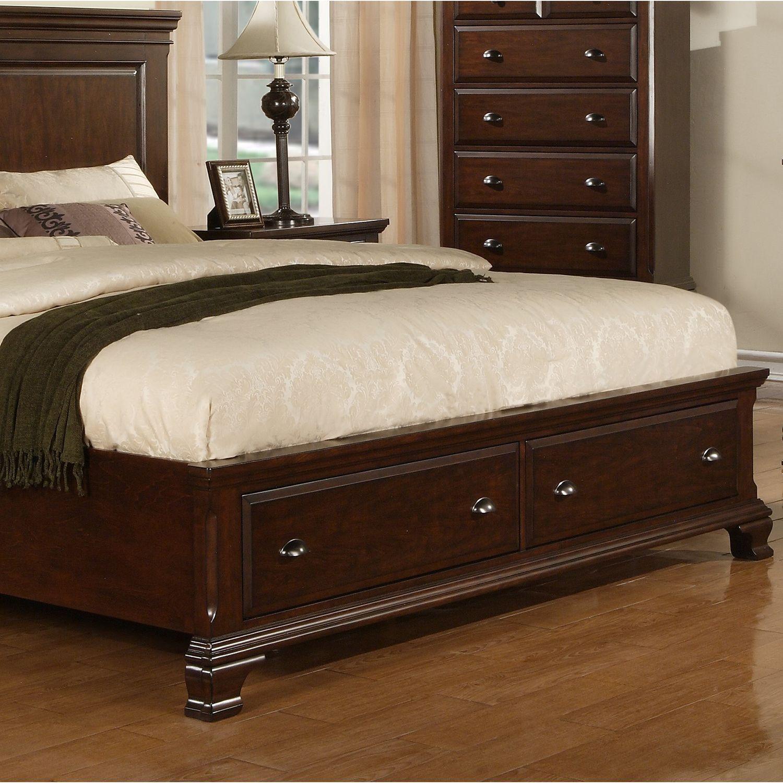 brinley cherry queen storage bed  sam's club  piso
