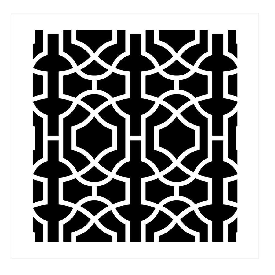 Designer Stencils Moroccan Trellis All Over Stencil Pattern Lowes Com In 2020 Stencil Pattern Geometric Stencil Wall Stencil Patterns