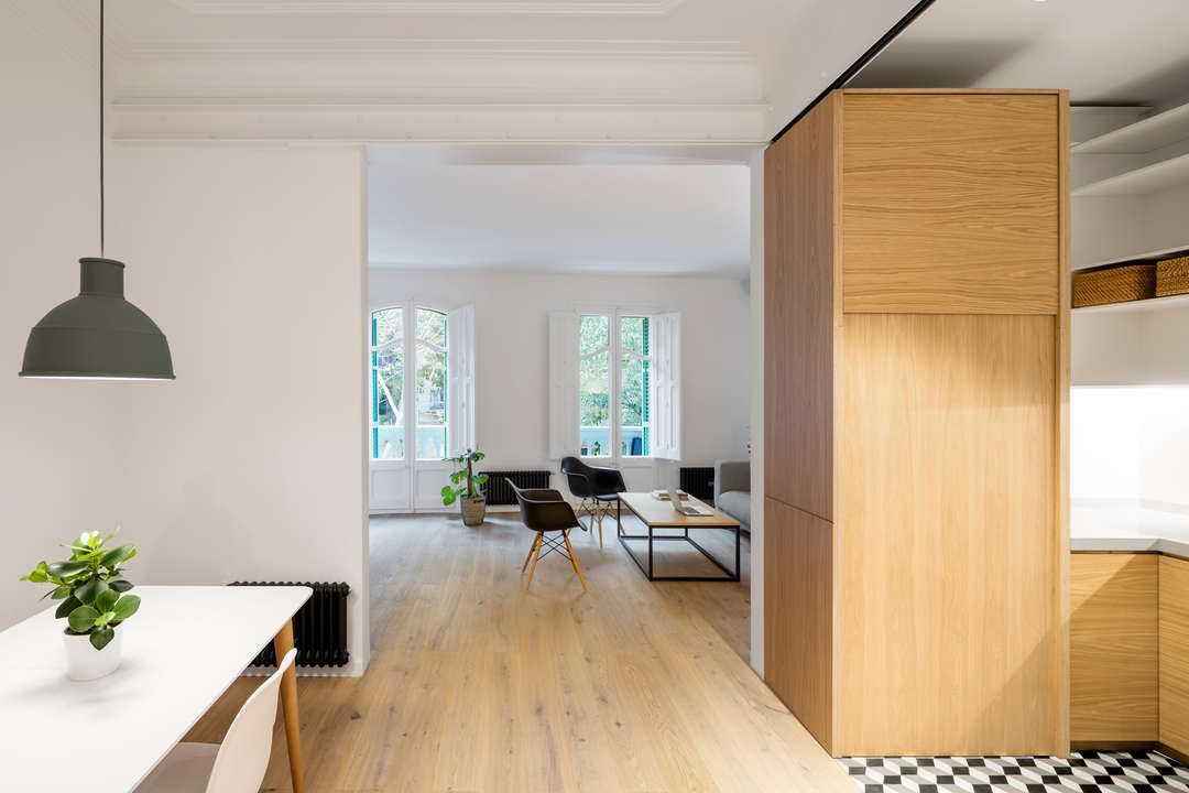 Borrell Apartment by EO arquitectura, Barcelona, Spain
