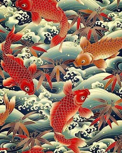 Pin by olga gekker on pinterest koi for Japanese koi carp paintings