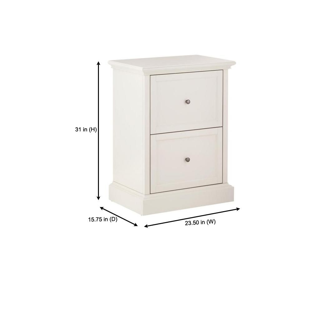 Home Decorators Collection Royce Polar White Wood 2 Drawer File Cabinet 23 5 In W X 31 In H Sk19051dr1 Pw The Home Depot In 2020 Filing Cabinet Home Decorators Collection 2 Drawer File Cabinet
