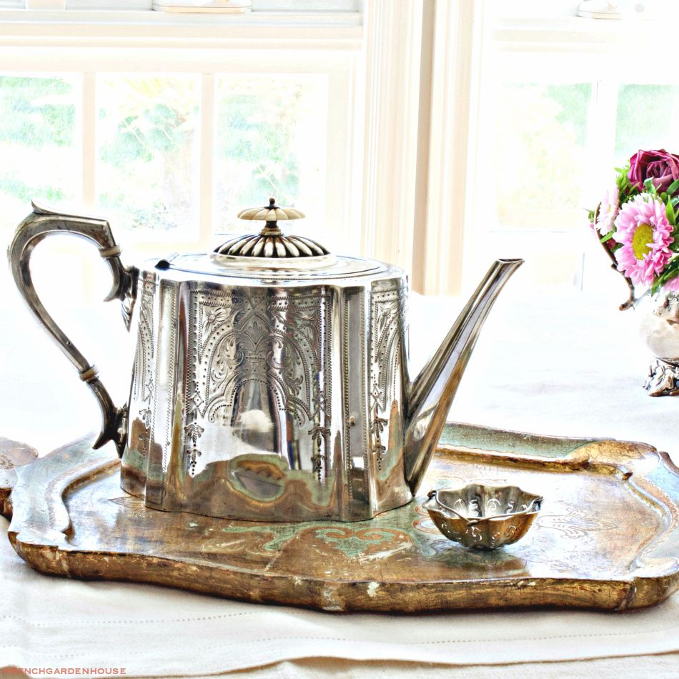 Georgian Style Silver Plate Teapot