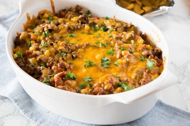 Frito Taco Pie Recipe #pioneerwomannachocheesecasserole