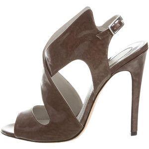 Camilla Skovgaard Patent Leather Cage Sandals