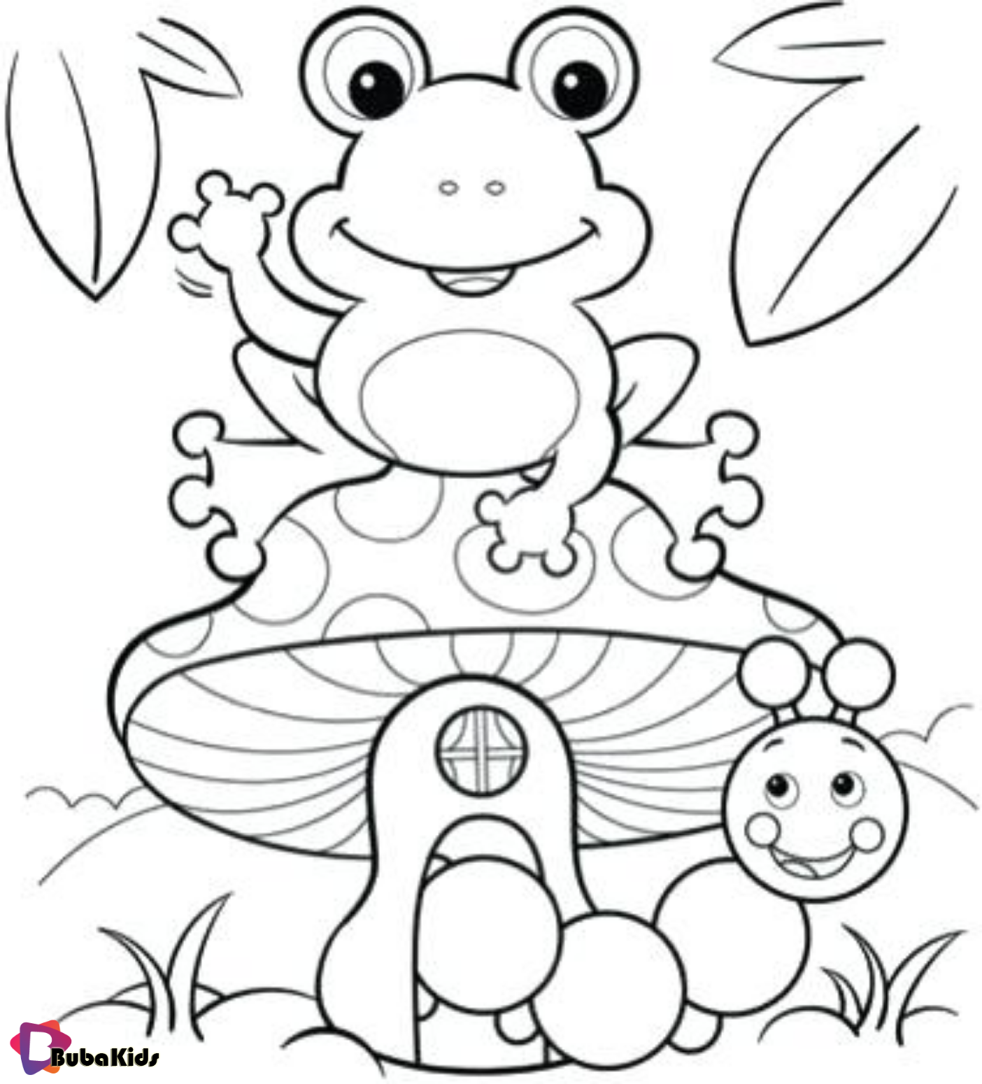 Frog Coloring Pages Kids Learning Activity Frog Coloring Pages Cartoon Coloring Pages Cute Coloring Pages