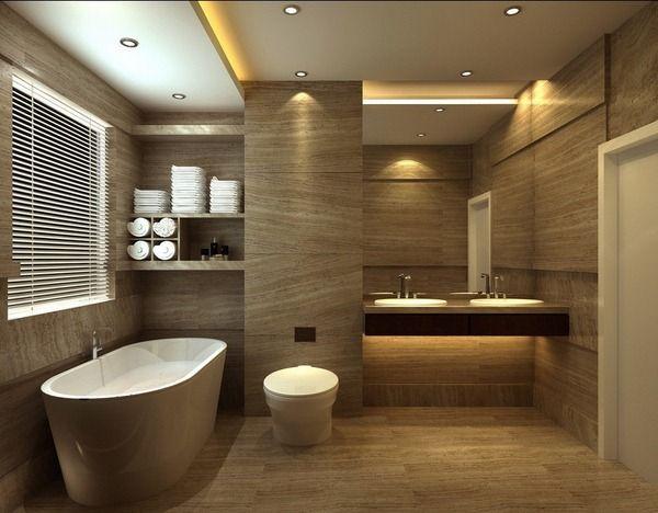 Salle-de-bains-design-avec-toilettes-carrelage-de-la-baignoire-par
