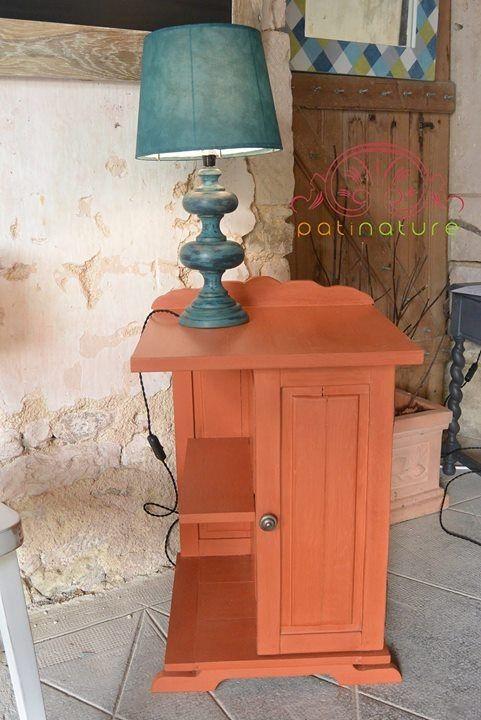 Chevet Ocre Patinature Peint A La Caseine Finition Cire D Abeille Naturelle Lampe Faite Maison Atelier P Mobilier De Salon Peinture Naturelle Peinture Ocre