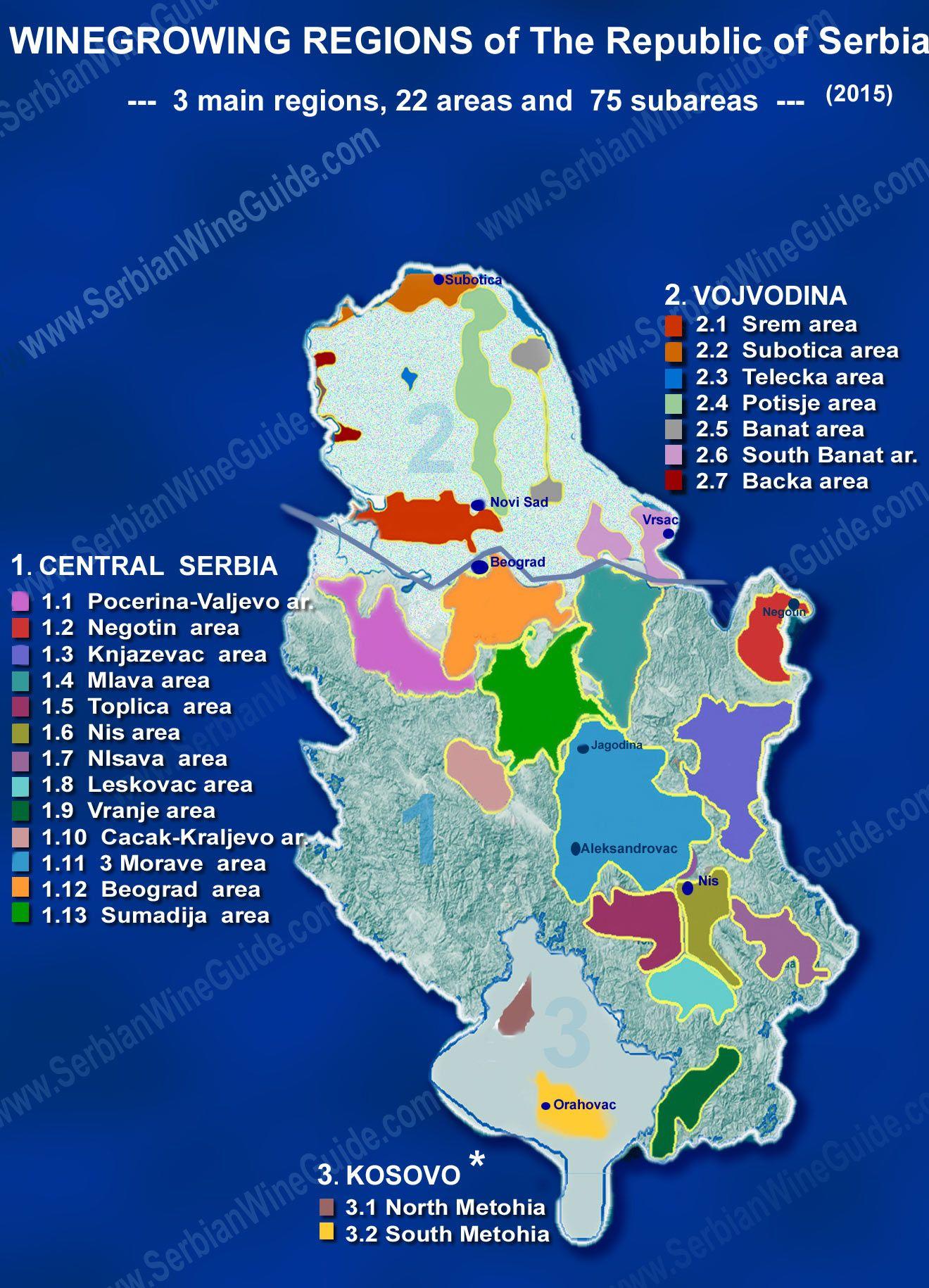 Serbian Winegrowing Regions In 2020 Wine Map Wine And Beer Region